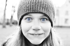 Expresión tonta de la muchacha Fotos de archivo libres de regalías