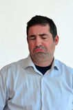 Expresión triste de la cara del hombre Imagenes de archivo