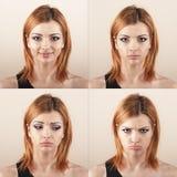 Expresión de la cara Foto de archivo