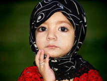Expresión linda de la muchacha Fotos de archivo libres de regalías