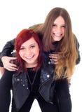 Expresiones adolescentes del amigo Foto de archivo