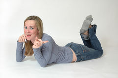 Expresiones adolescentes del teléfono Imagen de archivo libre de regalías