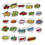 Expresiones cómicas fijadas Imagen de archivo libre de regalías