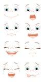 Expresiones de la cara Imágenes de archivo libres de regalías