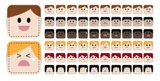 Expresiones de la cara Foto de archivo libre de regalías