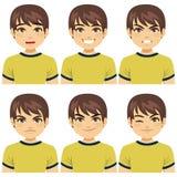 Expresiones de la cara del hombre stock de ilustración