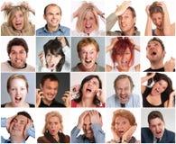 Expresiones de la furia Foto de archivo