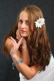Expresiones de la muchacha Fotos de archivo