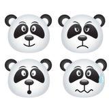 Expresiones de la panda Imagen de archivo libre de regalías