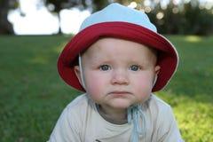 Expresiones del bebé - gruñonas Imagenes de archivo