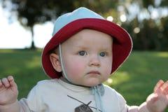 Expresiones del bebé - pensativas Fotografía de archivo