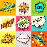 ¡Expresiones del cómic! Imagen de archivo