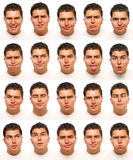Expresiones faciales útiles Fotos de archivo