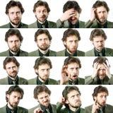 Expresiones faciales Fotografía de archivo libre de regalías