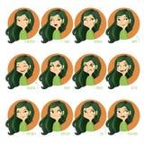 Expresiones faciales de las muchachas Fotografía de archivo