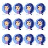 Expresiones faciales de las muchachas Imagenes de archivo