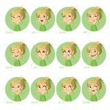 Expresiones faciales de las muchachas Foto de archivo