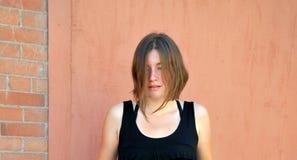 Expresiones femeninas atractivas de la belleza imagen de archivo