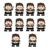 Expresiones gordas del muchacho Foto de archivo