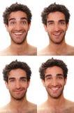 Expresiones masculinas múltiples Imágenes de archivo libres de regalías
