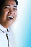 Expressão asiática do homem foto de stock