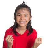 Expressão asiática nova II da cara da menina imagens de stock