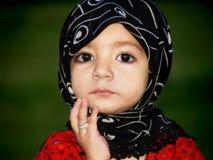 Expressão bonito da menina Fotos de Stock Royalty Free