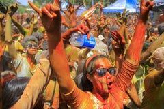 Expressão da corrida do divertimento da cor Fotos de Stock Royalty Free