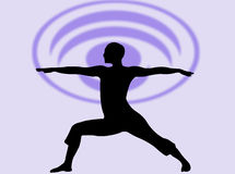 Expressão da ioga ilustração royalty free