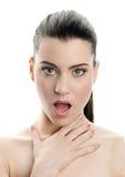 Expressão da mulher nova fotos de stock