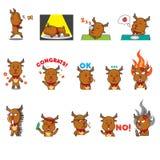 Expressão da rena Imagem de Stock