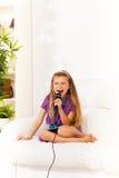 Expressão de canto e gritando Imagem de Stock Royalty Free