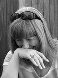 Expressão de riso da mulher Imagem de Stock Royalty Free
