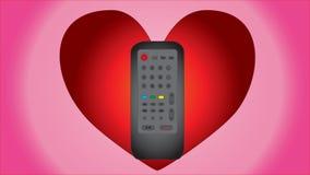 Expressão do amor para o controlo a distância Foto de Stock