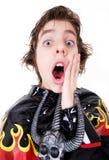 Expressão do medo ou da surpresa Fotografia de Stock Royalty Free