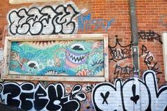 Expressão dos grafittis: Fremantle, Austrália Ocidental Fotografia de Stock