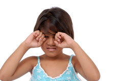 Expressão facial da menina imagens de stock royalty free