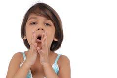 Expressão facial da menina Imagem de Stock Royalty Free