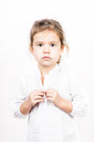 Expressão facial emocional da menina - calma Imagem de Stock Royalty Free