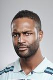 Expressão irritada do homem afro-americano Imagem de Stock Royalty Free