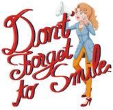 A expressão não esquece sorrir Foto de Stock