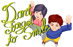 A expressão não esquece sorrir Imagens de Stock Royalty Free