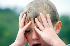 Expressão nova do menino Fotos de Stock Royalty Free