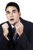 Expressão surpreendida do homem de negócios Imagens de Stock