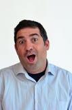 Expressão surpreendida homem da cara Foto de Stock Royalty Free