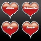 Expressões 02 do amor Fotografia de Stock