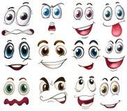 expressões Foto de Stock