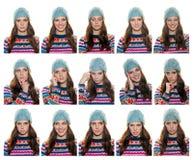 Expressões adolescentes da menina foto de stock royalty free