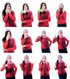 Expressões atrativas da mulher Imagens de Stock