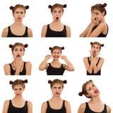 Expressões da cara Fotografia de Stock Royalty Free